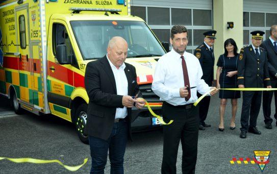 ZZS HMP otevřela novou základnu vRadotíně