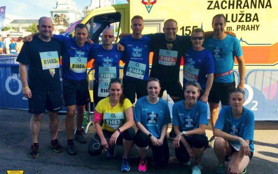 Tři týmy běžců ZZS HMP na Pražské štafetě