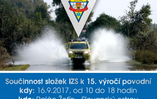 Na Žofíně jsme si připomněli výročí povodně 2002