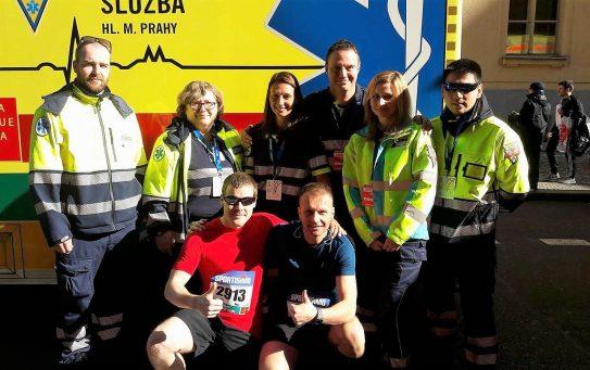 Asistence na sobotním půlmaratonu
