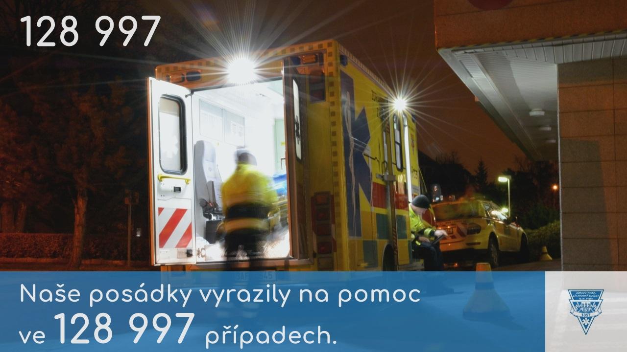 Posádky pražské záchranky v roce 2018 vyrážely na pomoc při 129 tisících událostech
