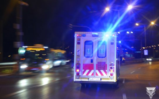 Posádka zachránila pacienta přímo na základně