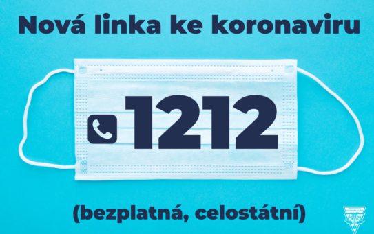 Nová infolinka 1212 poradí ohledně koronaviru