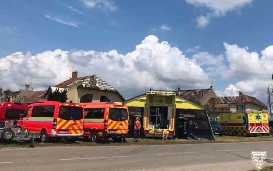 Pražští záchranáři provozují na Moravě předsunutou základnu ve speciálu Golem, ordinuje zde i praktický lékař