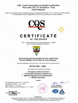 Certificate ISO ZZS HMP EN