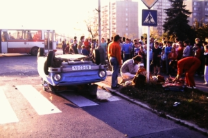 dopravni nehoda historie